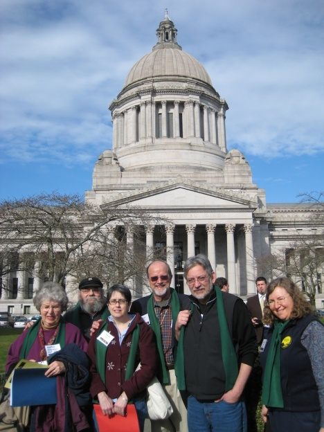 Part of the group from Port Townsend at Environmental Lobbying Day 2009