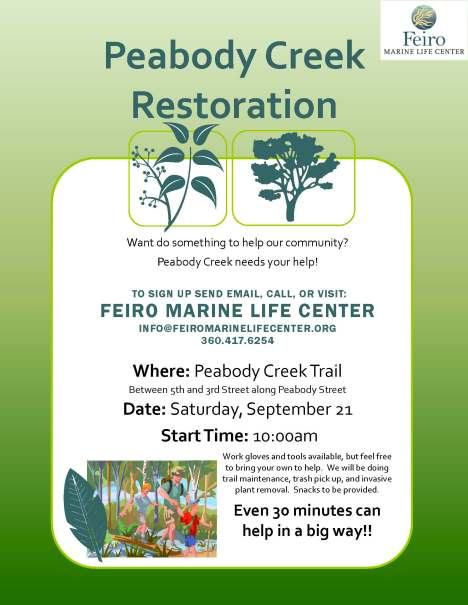 EVENT: Sept 21st in PA - Peabody Creek Restoration