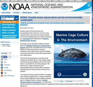 NOAA web site on fish farming