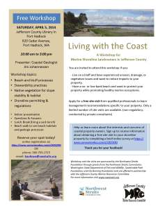 Free workshop for shoreline homeowners