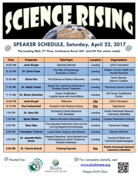 Science Celebration speaker schedule