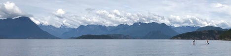 Paddleboarders in Desolation Sound