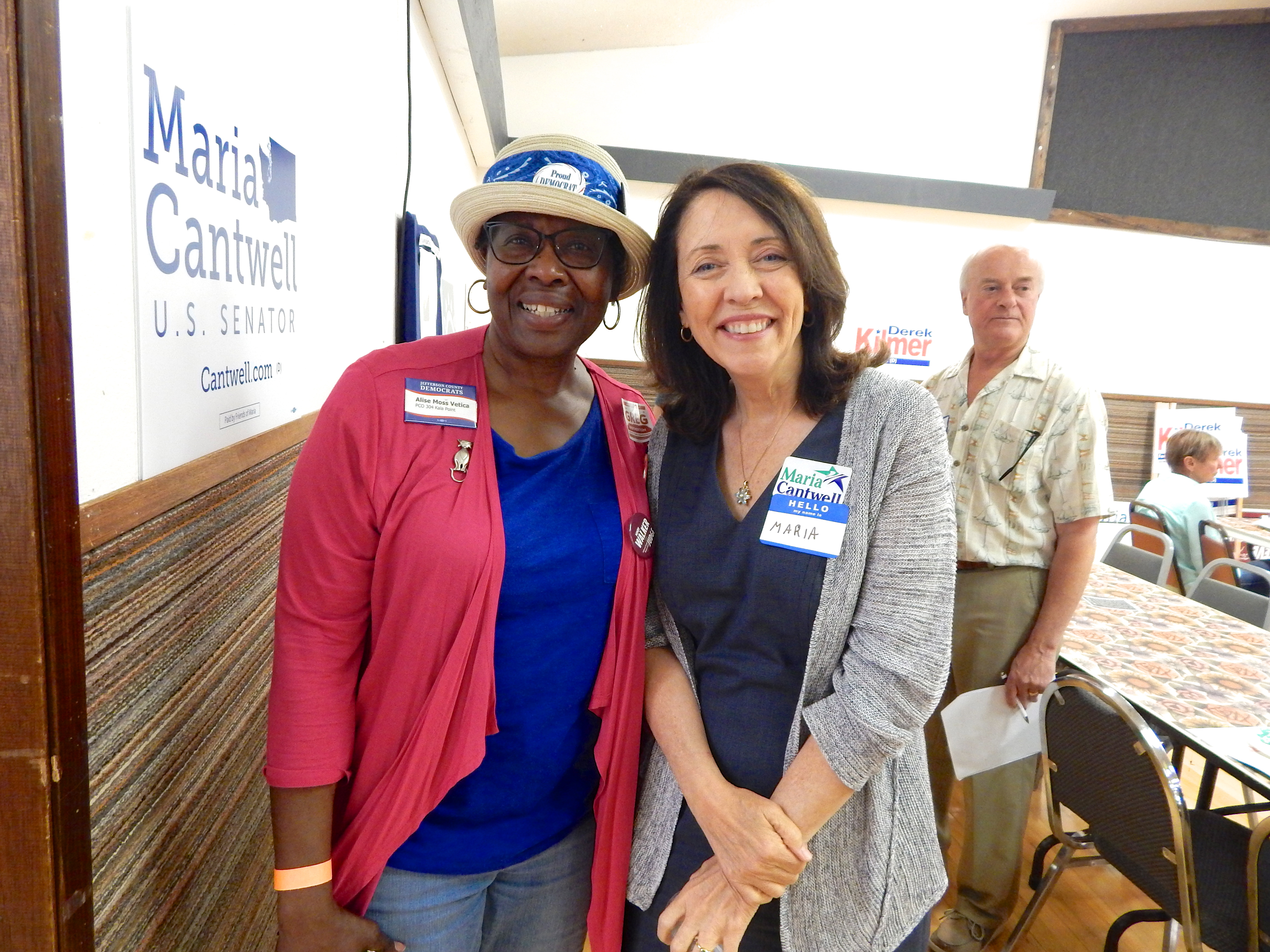 senator cantwell with Alise Moss Vetica